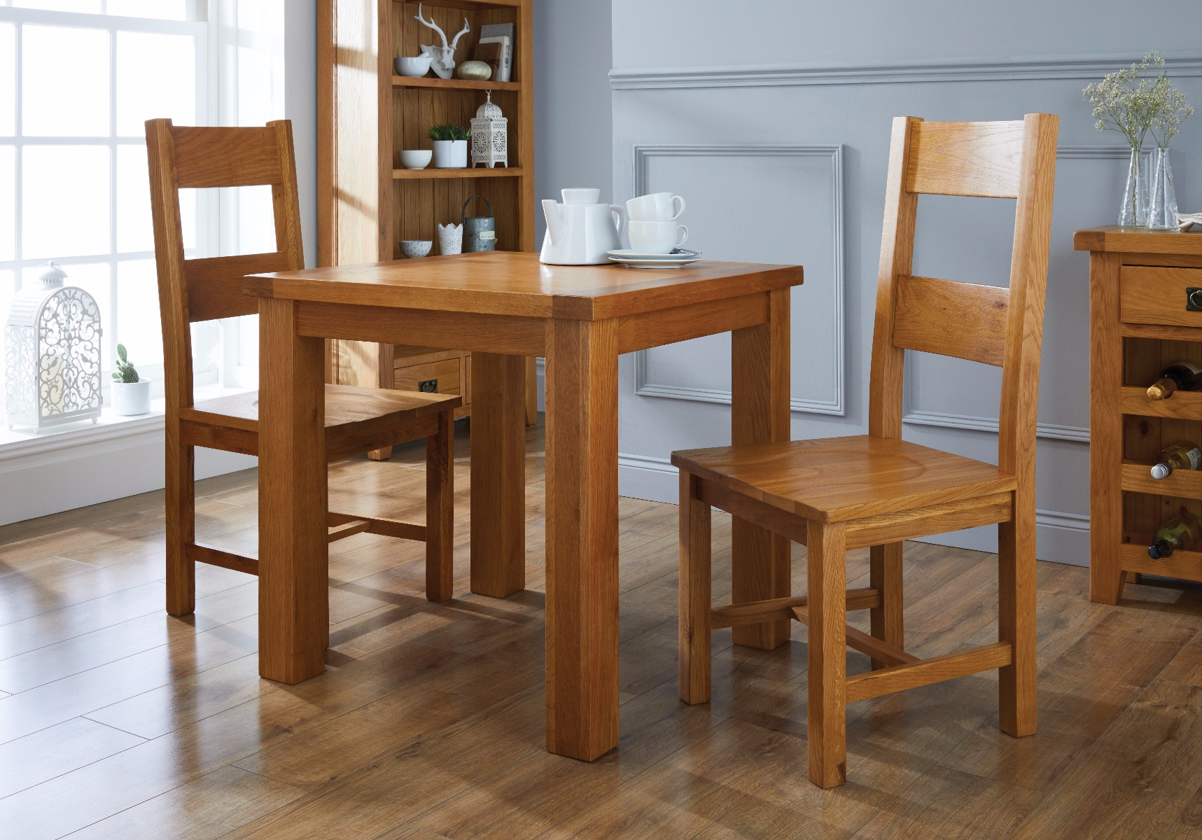 chester country oak ladder back timber seat oak dining chair